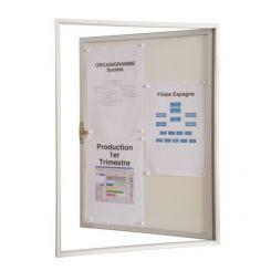 Vitrine d'intérieur à coller sur une vitre | 1/2 feuille | fond marron