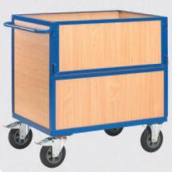 Chariot conteneur bois - destockage