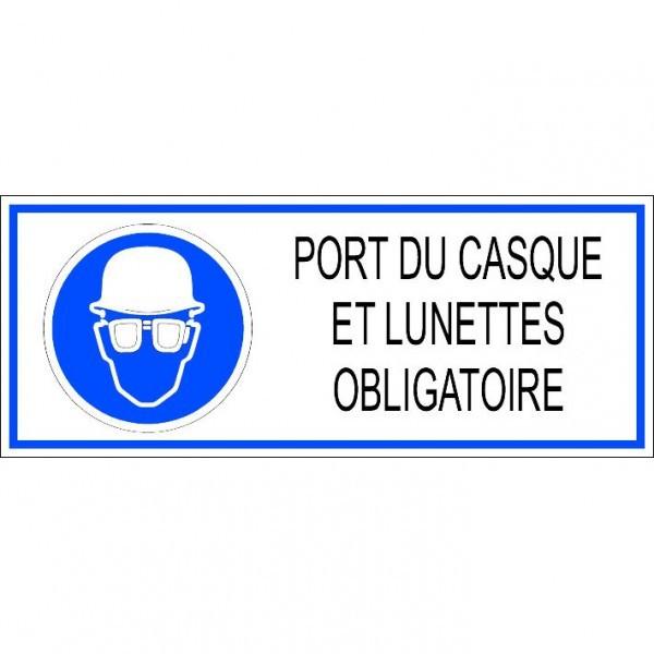Autocollant fermez la scie - Port du casque obligatoire ...