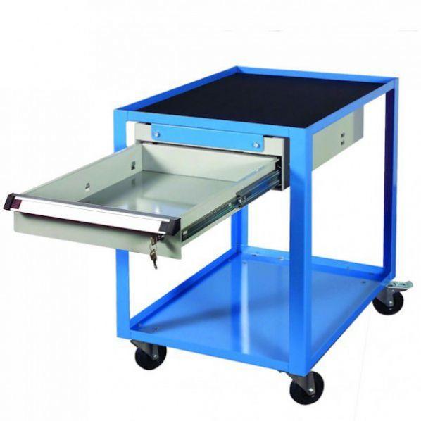 servante atelier ou bureau 2 niveaux avec tiroir rolleco. Black Bedroom Furniture Sets. Home Design Ideas