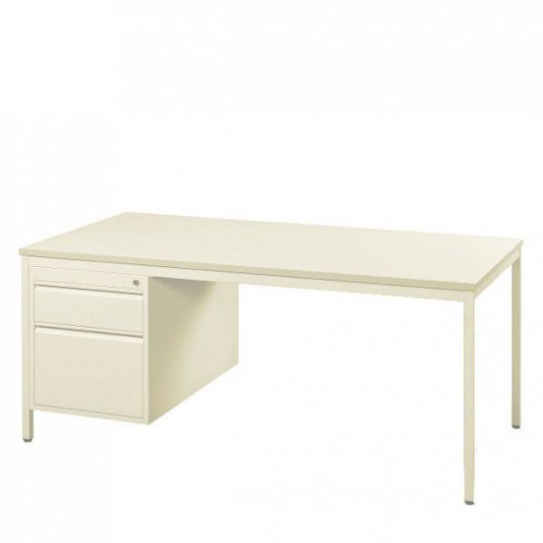 bureau m tallique avec caisson 2 tiroirs roll. Black Bedroom Furniture Sets. Home Design Ideas