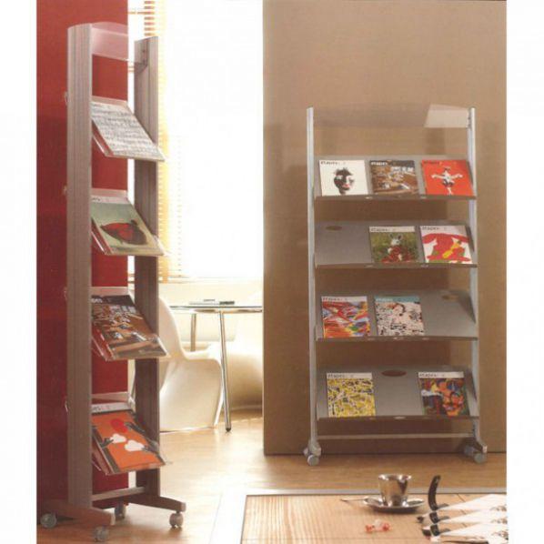 pr sentoirs sur roulettes 4 tag res roll. Black Bedroom Furniture Sets. Home Design Ideas