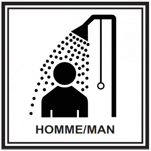 Pictogramme douche pour homme roll - Masturbation douche homme ...