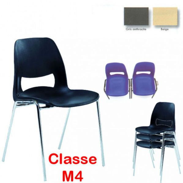 Chaise coque design accrochable pieds chrom s roll for Chaise coque
