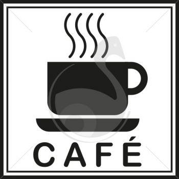 Pictogramme caf avec tasse roll - Tasse a cafe avec support ...