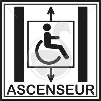 Picto ascenseur pour personne mobilit reduite roll - Prix entretien ascenseur ...