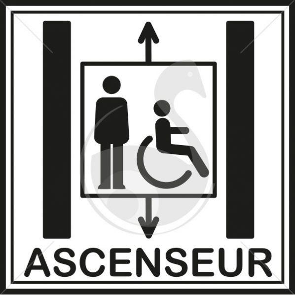 Picto ascenseur pour tout le monde roll - Entretien ascenseur prix ...