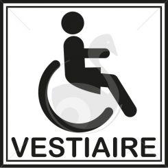 Autocollant vestiaire dames pour personnes handicapées