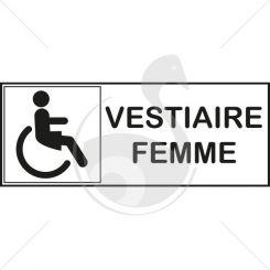 Autocollant vestiaire handicape pour femme