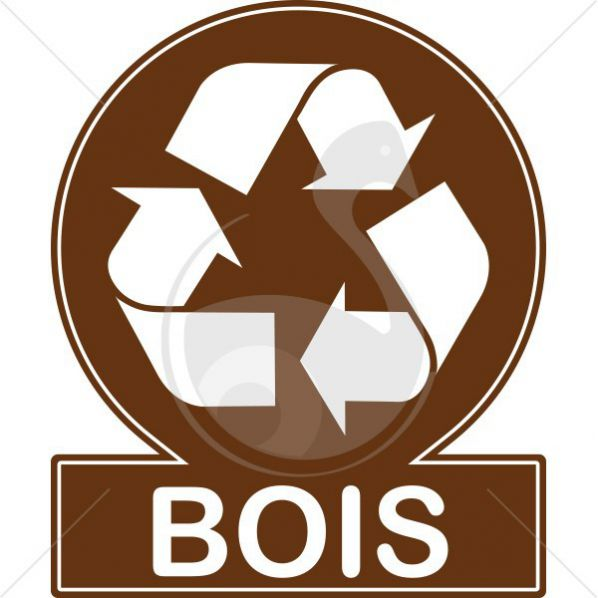 Pictogramme couleur recyclage bois roll - Recyclage cagette bois ...