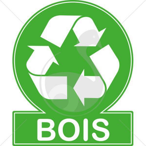 > Signalétique > Environnement > Pictogramme recyclage bois ~ Bois Environnement Service