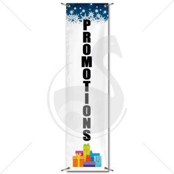 Bâche événementielle - promotions | verticale