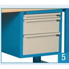 Bloc 1 tiroir 50 mm, 1 de 150 et 1 de 200 mm