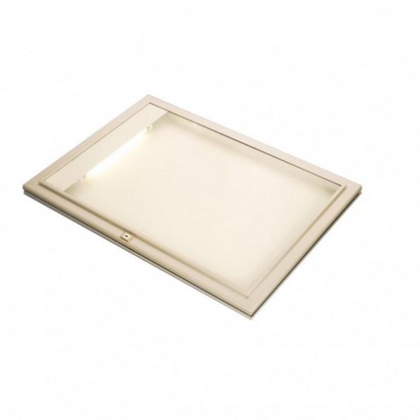 Vitrine d 39 ext rieur lumineuse vitre plexiglas rolleco for Affichage lumineux exterieur