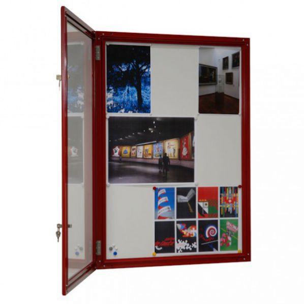 Vitrine fine d 39 ext rieur rouge vitre s curit 4 mm for Vitrine exterieur