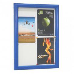 Vitrine d'extérieur | vitre sécurit 4 mm | Bleue
