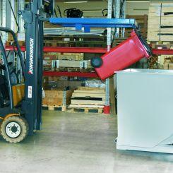 Basculeur de conteneur à déchets pour gerbeur