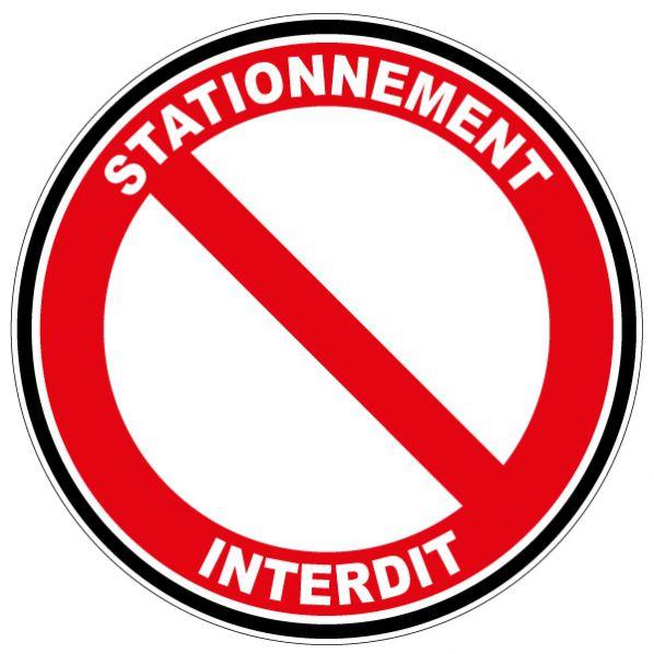 autocollant stationnement interdit roll
