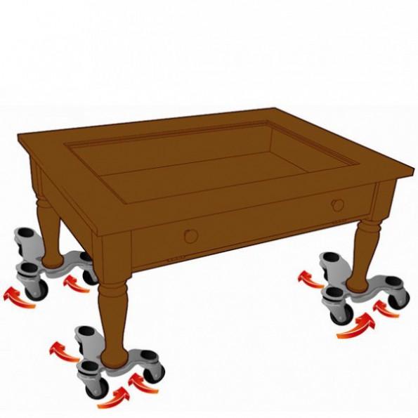 Plateau roulant pour pied de table rolleco for Plateau et pieds de table
