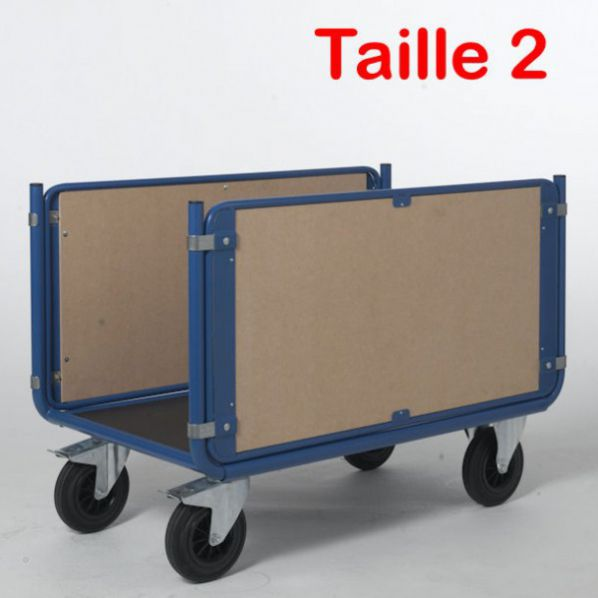 Chariot bois 2 ridelles 1200 x 700 mm rolleco - Dimension palette europeenne ...