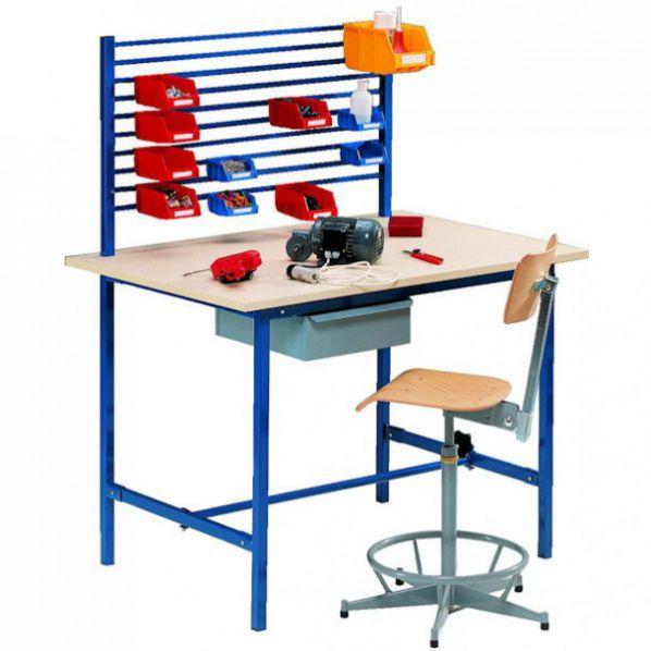 poste de travail table co avec tiroir et support bacs roll. Black Bedroom Furniture Sets. Home Design Ideas
