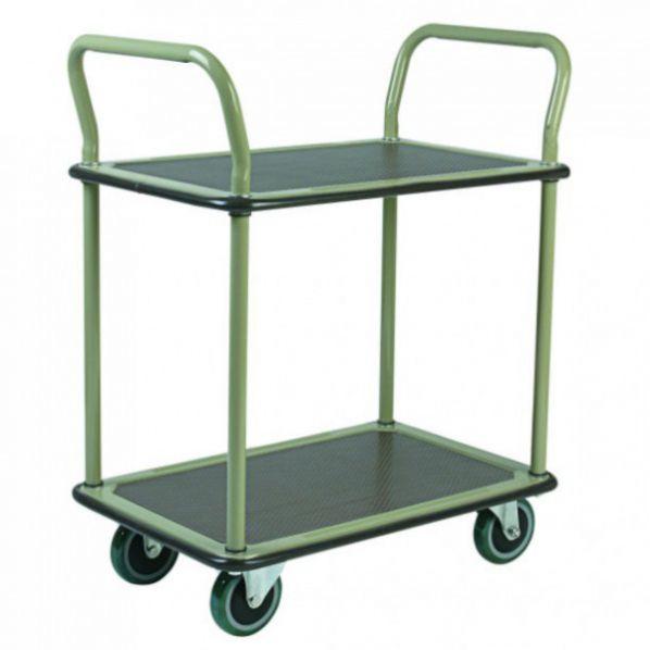 Desserte multi usage 2 plateaux roll - Chariot de jardin multi usage ...