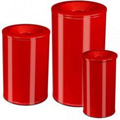 Corbeille à papier anti-feu rouge