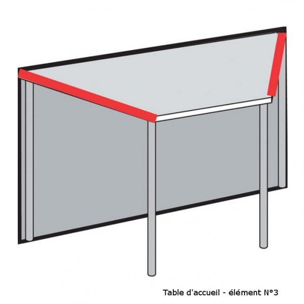 banque d 39 accueil modulaire design laqu blanc verre. Black Bedroom Furniture Sets. Home Design Ideas
