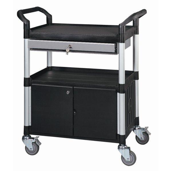 Servante multi usage tiroir et bloc portes roll - Desserte tiroir plastique ...