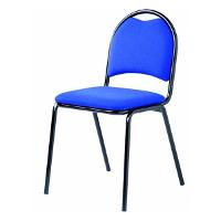 Chaise à revêtement tissu