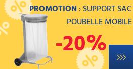 PROMOTION -20% sur les supports sac poubelle mobiles