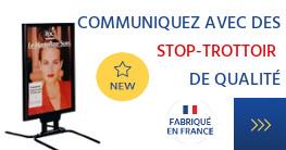 Communiquez avec des stop-trottoirs fabriqués en France
