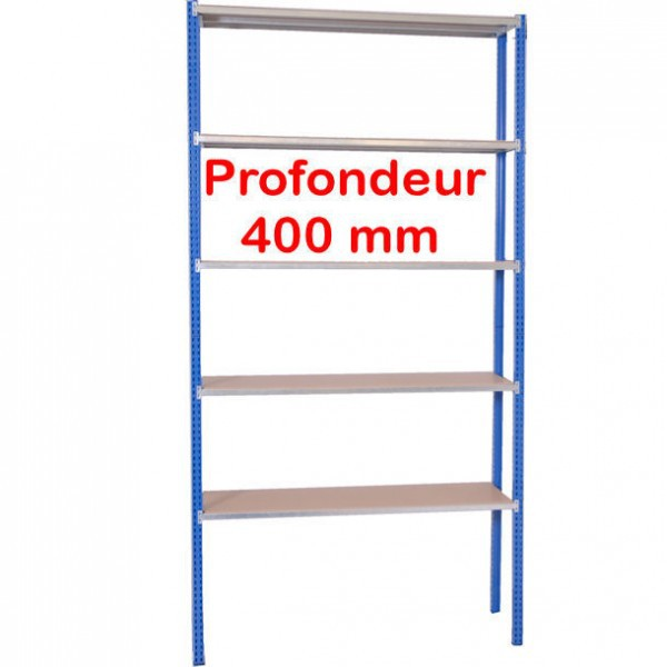 Rayonnage leger atelier | Profondeur 400 mm