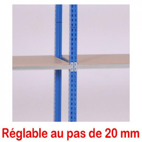 Rayonnage tubulaire d'atelier |  500 mm pas de 20