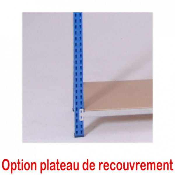 Rayonnage tubulaire d'atelier |  500 mm plat bois