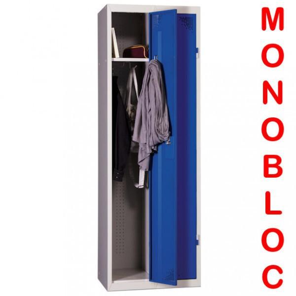 Vestiaire industrie propre monobloc 2 cases