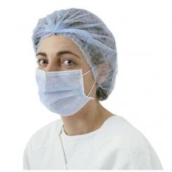 Masques PP bleu 3 plis avec elastique haute filtration
