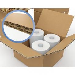 Caisse carton double cannelure - 450 x 450 x 450 mm