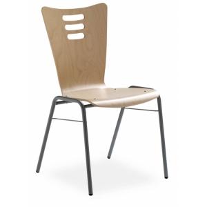 Chaise design à coque bois
