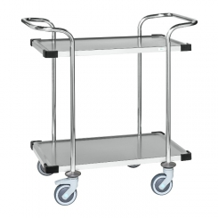 Chariot inox classe C3, 2 plateaux