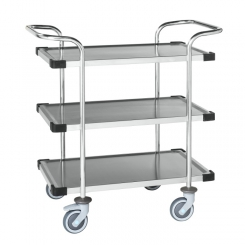 Chariot inox classe C3, 3 plateaux