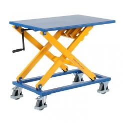 Table élévatrice à manivelle
