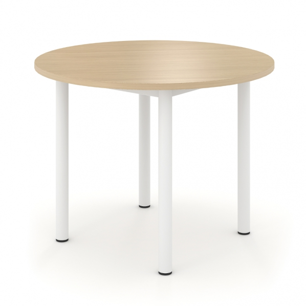 table de r union ronde en mdf m lamin roll. Black Bedroom Furniture Sets. Home Design Ideas