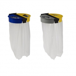 Support à sac poubelle mural 2 flux - Citwin