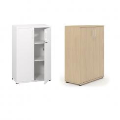 Armoire basse de bureau avec étagères