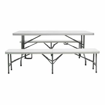 Table Rectangle Pliante 2 Bancs Pliants Rolléco