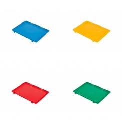 Couvercle pour bac norme europe couleur - 400 x 300 mm