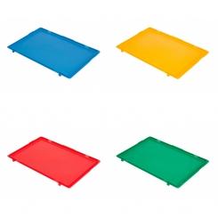 Couvercle pour bac norme europe couleur - 600 x 400 mm