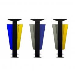 Corbeille en métal tri sélectif 2 x 60L ARKEA