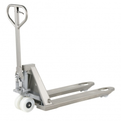Transpalette inox charge 1800 kg - pompe galva